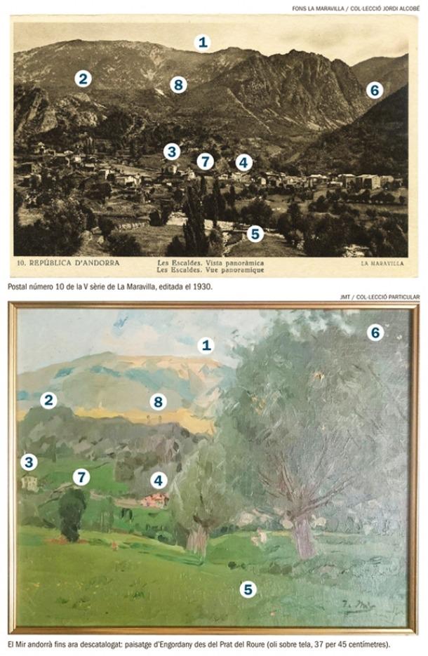 Andorra, Joaquim Mir, oli, Anserall, Tarragona, col·leccionista, quadre, pintura, Jordi Alcobé, Engordany