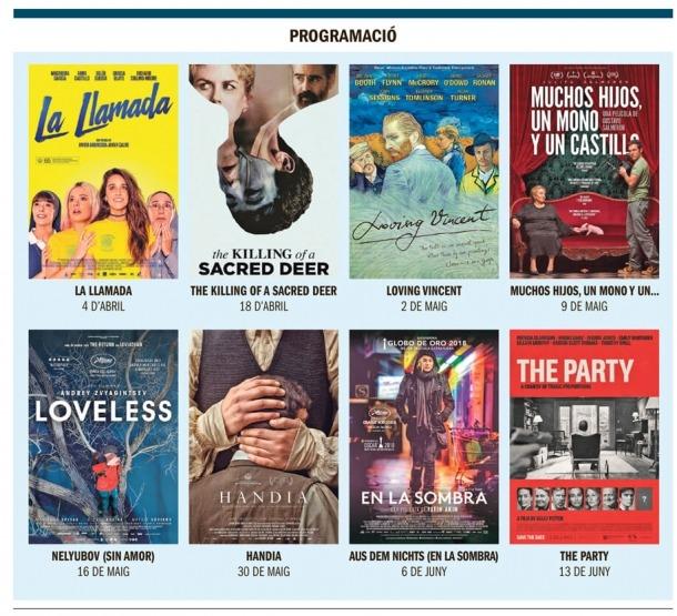 La cartellera de primavera del Cineclub de les Valls