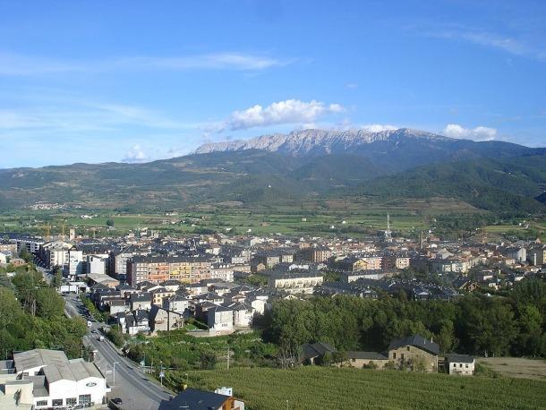Una vista aèria de la Seu d'Urgell.