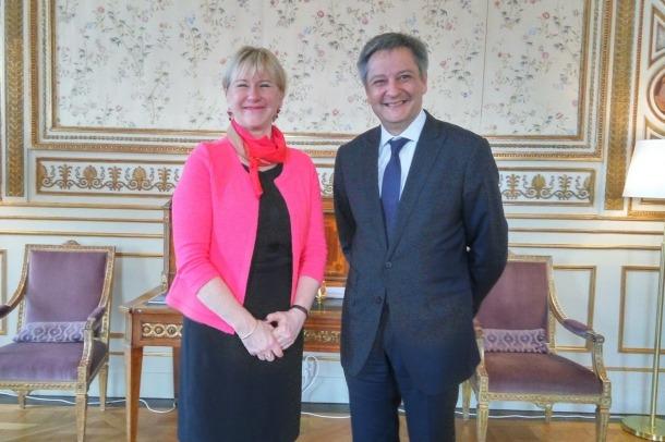 Saboya tracta temes de fiscalitat i l'apropament d'Andorra a la UE durant la seva visita a Suècia  Gilbert Saboya, i la seva homòloga sueca, Margot Wallström