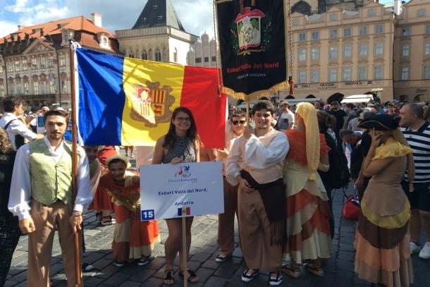 L'Esbart Valls del Nord, en un festival folklòric a Praga