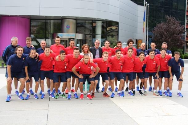 """El FC Barcelona Lassa de futbol sala s'entrena a Encamp amb l'objectiu de tornar a """"l'època daurada"""""""