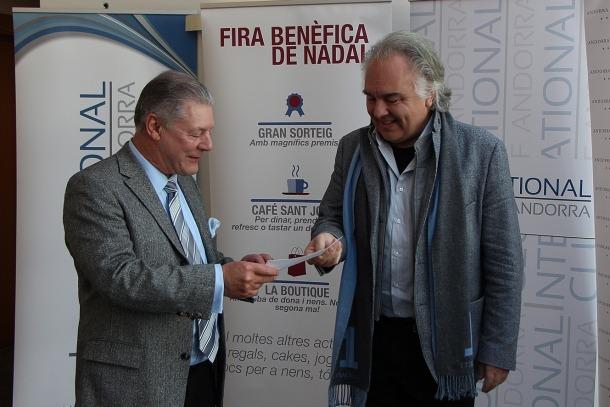 L'International Club of Andorra reparteix al voltant de 8.500 euros entre nou associacions benèfiques