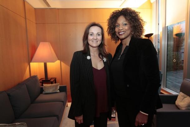 La ministra de Cultura, Joventut i Esports, Olga Gelabert, amb la seva homòloga francesa, Laura Flessel, aquest dijous a París.