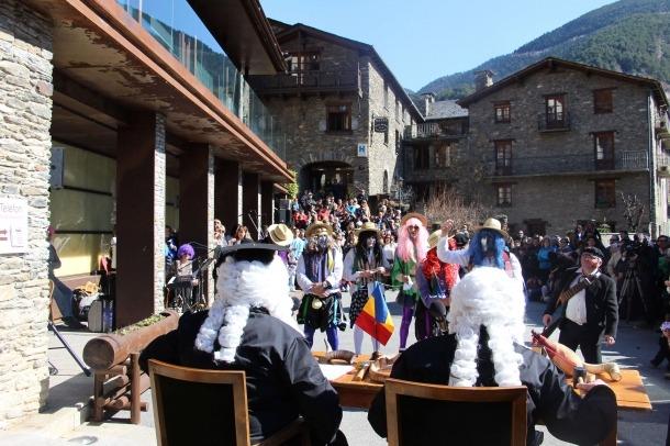 Una imatge de la representació de l'espectacle 'Els contrabandistes' l'any passat.
