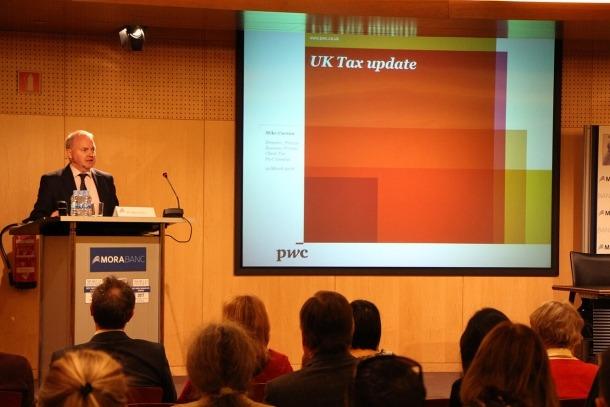 El director de PwC a Londres durant la conferència d'aquest dilluns a MoraBanc.