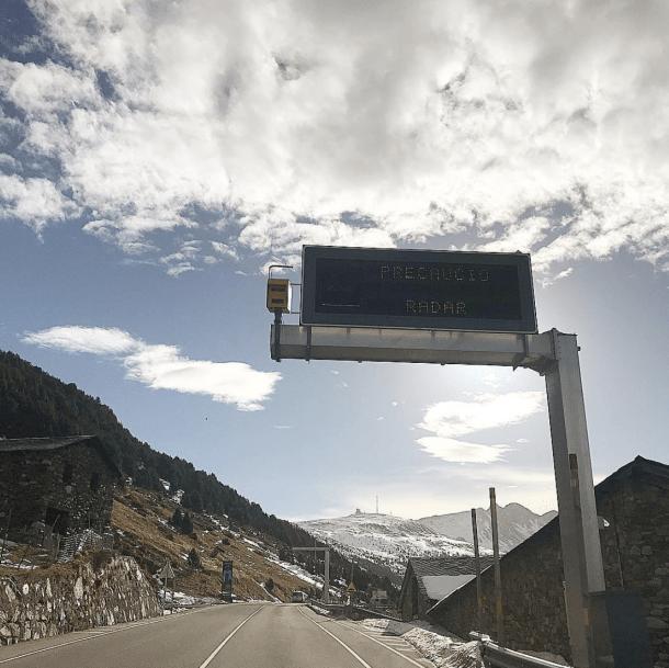 Un radar situat a les Bordes d'Envalira.