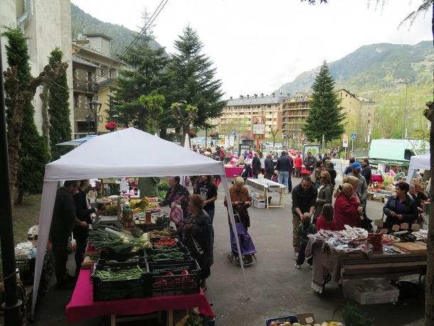 El mercat d'Encamp.