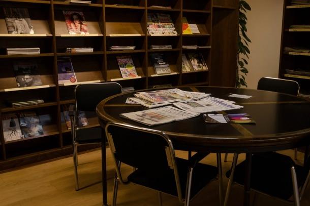 Un dels espais de la Biblioteca Pública del Govern.