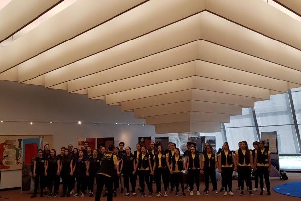 Els alumnes, aquesta setmana durant la visita a institucions europees amb seu a Estrasburg.