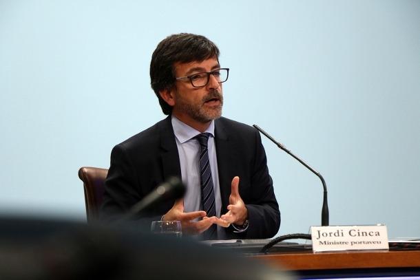 El ministre portaveu, Jordi Cinca, durant la roda de premsa d'aquest dimecres posterior al consell de ministres