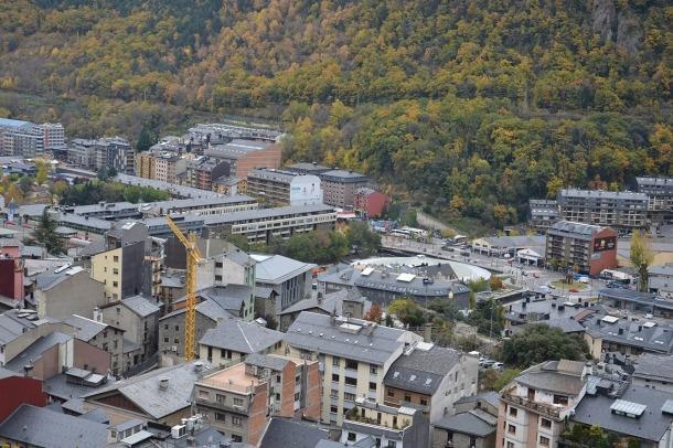 Una imatge d'Andorra la Vella.
