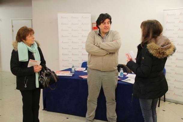 El president d'Assandca, Josep Saravia, durant una jornada de portes obertes de l'associació.