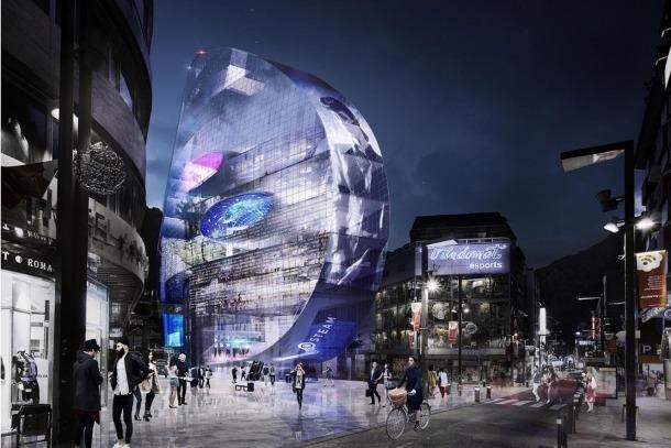 Simulació de l'edifici The Cloud.