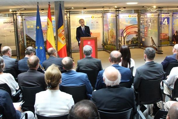 Antoni Martí va parlar sobre el projecte de llei del preu mínim del tabac dilluns després de l'acte dels 25 anys de les relacions diplomàtiques entre Andorra i Espanya.