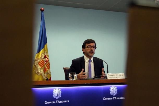 El ministre portaveu i ministre de Finances, Jordi Cinca, en una roda de premsa recent.