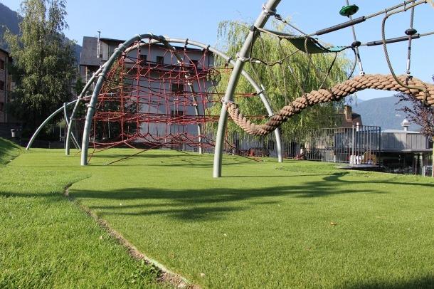 Imatge de com ha quedat la zona de jocs de Prat de Call.