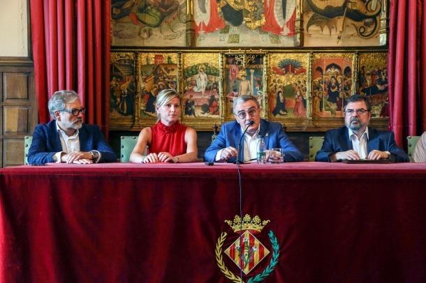 Àngel Ros, el dia de la signatura de la seva renúncia a alcalde de Lleida.