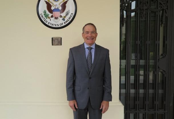 El nou cònsl dels Estats Units, Robert Riley.