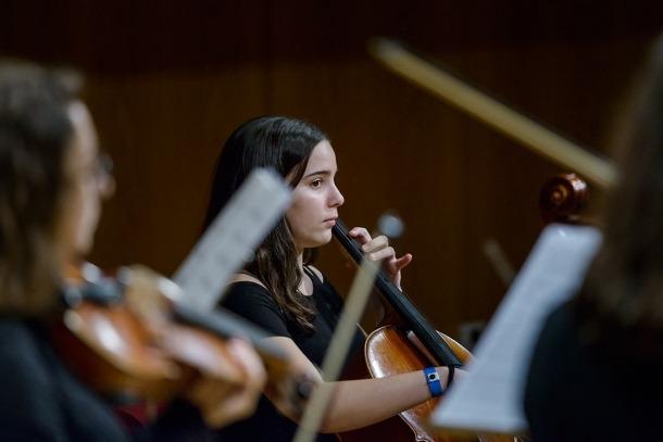 Prova de so del Concert de Meritxell de l'any passat.