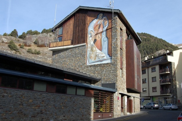 Una imatge de la Casa pairal d'Ordino.