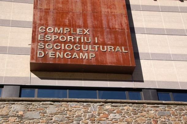 El Complex esportiu i sociocultural d'Encamp.