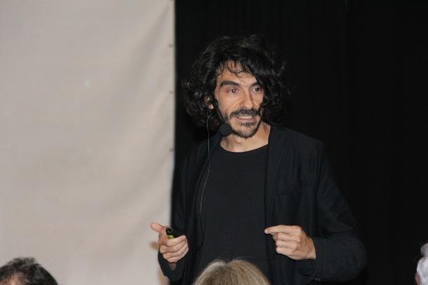 Jaime García Cantero durant la conferència d'ahir.