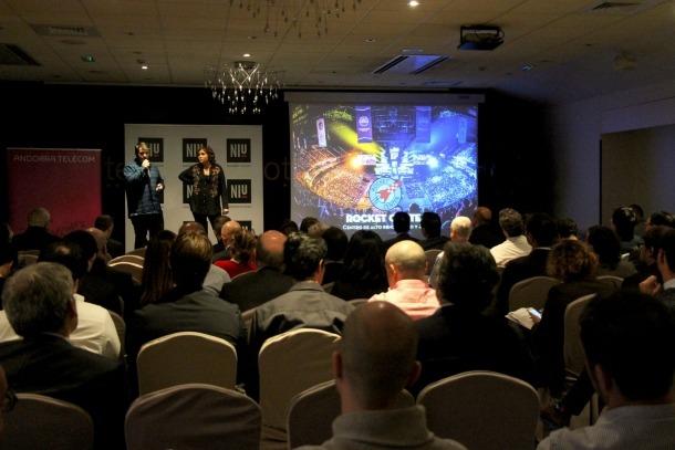 Una imatge de la primera edició del Niu Demo Day.