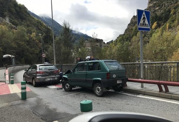 L'accident, aquest dimarts.