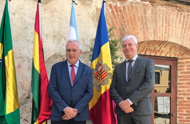 Miquel Armengol i Gerard Cadena, després de la reunió a la Antigua (Guatemala).