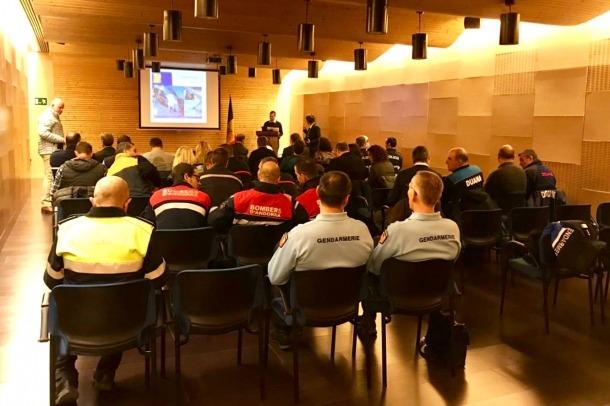Una imatge de la trobada que han mantingut els cossos implicats en la viabilitat hivernal de França i Andorra.