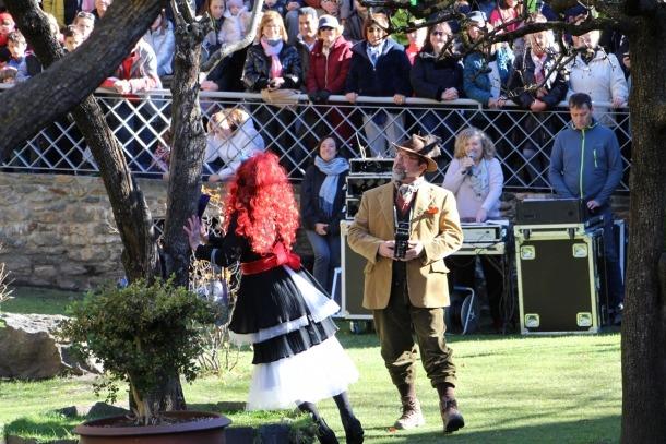 Un moment de la representació de l'Ossa celebrada aquest diumenge a Ordino.