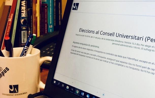 Les eleccions universitàries s'han fet amb vot electrònic.
