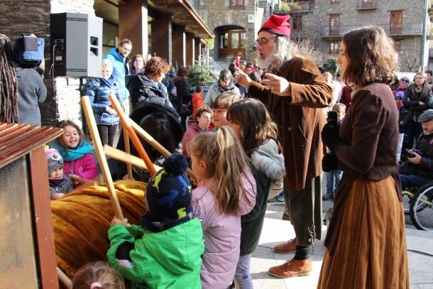 L'activitat del Tió a Ordino.