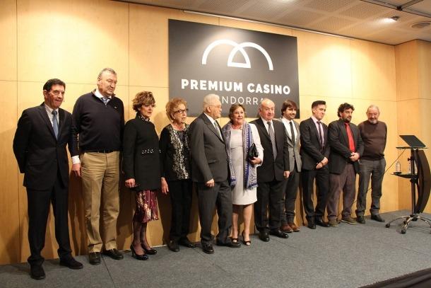 Els promotors andorrans del projecte de Barrière el dia de la seva presentació, al desembre del 2017.