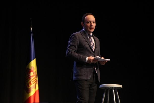 El candidat a cap de Govern per Demòcrates per Andorra, Xavier Espot, el dia de la presentació de la seva candidatura.