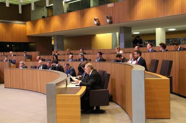 Els consellers durant la sessió d'avui al Consell General.