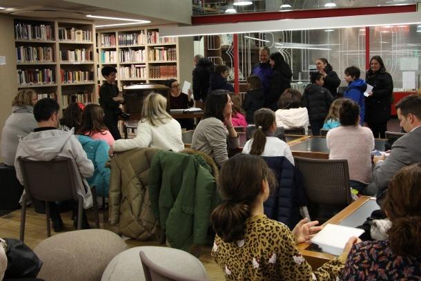 Celebració del sorteig anual d'agermanament amb els nens i nenes d'Escaldes-Engordany.