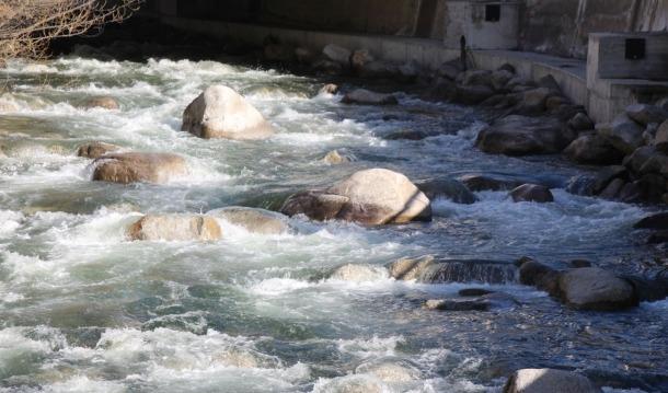 El riu Valira.