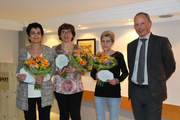 Homenatge de la Unió Hotelera a quatre dones que han dedicat la trajectòria professional a l'hoteleria.