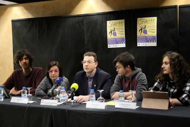 Els impulsors del projecte durant la roda de premsa de presentació.