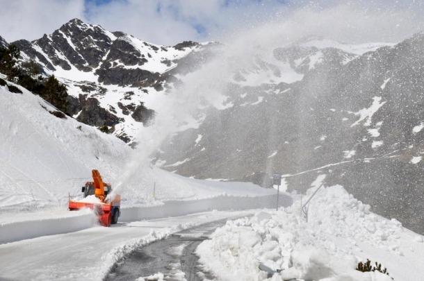 La neteja de la carretera que ha fet el COEX aquest dijous.