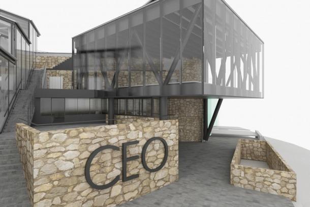 Simulació del nou edifici annex al CEO.