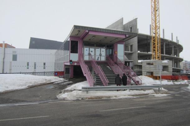El Centre Esportiu del Pas de la Casa, amb les obres ja en marxa.