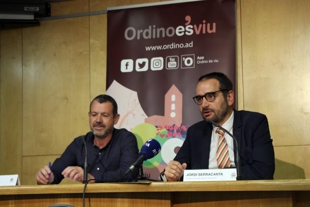 Francesc Oriol i Jordi Serracanta han presentat la 7a trobada Canillo-Ordino.