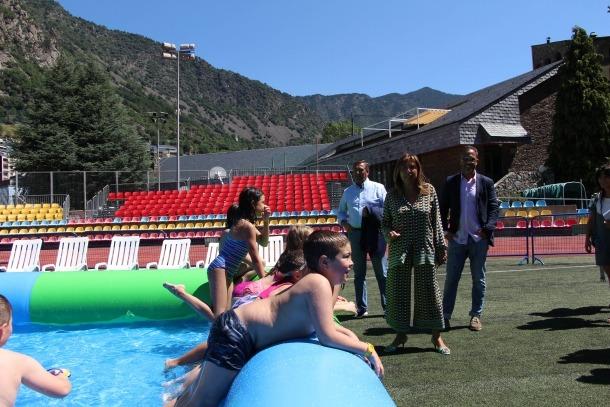 Un moment de la inauguració de les instal·lacions de l'aquaparc.