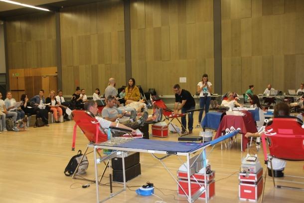 La sala gran del Prat del Roure a Escaldes-Engordany és l'espai destinat per la campanya de donació de sang.