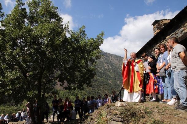 Un moment de la celebració del 18è aplec de Sant Romà dels Vilars.