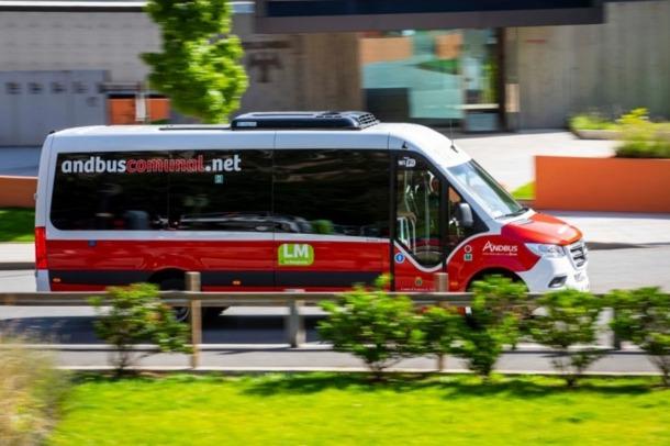 Un bus comunal d'Andorra la Vella.