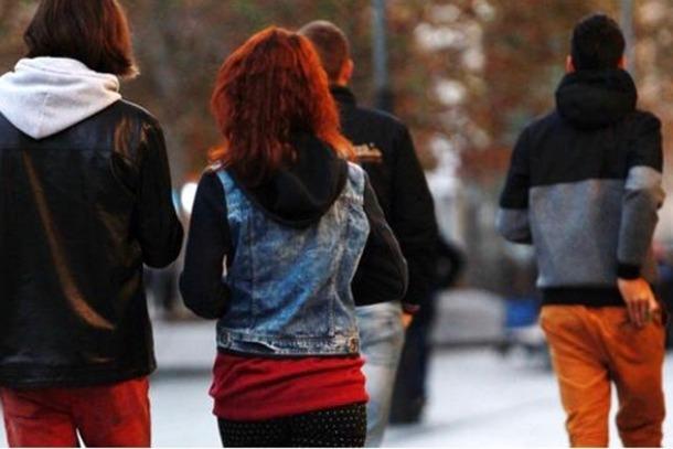 Un grup de joves.
